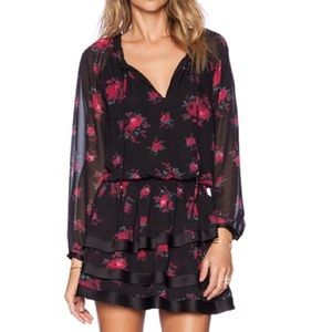 Sam Edelman Drop Waist Floral Print Dress